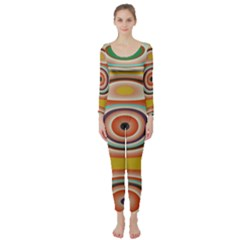 Oval Circle Patterns Long Sleeve Catsuit by theunrulyartist