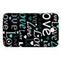 Valentine s day pattern - cyan Samsung Galaxy Tab 3 (7 ) P3200 Hardshell Case  View1