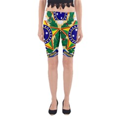 Coat of Arms of Brazil Yoga Cropped Leggings by abbeyz71