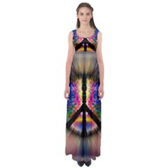 reach Out In The Darknes  Empire Waist Maxi Dress