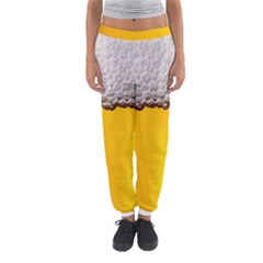 Beer Foam Yellow Women s Jogger Sweatpants by AnjaniArt