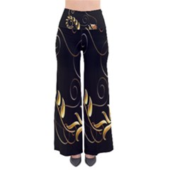 Butterfly Black Golden Pants by AnjaniArt