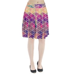 Chevron Colorful Pleated Skirt by AnjaniArt