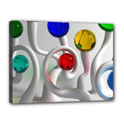 Colorful Glass Balls Canvas 16  X 12  by AnjaniArt