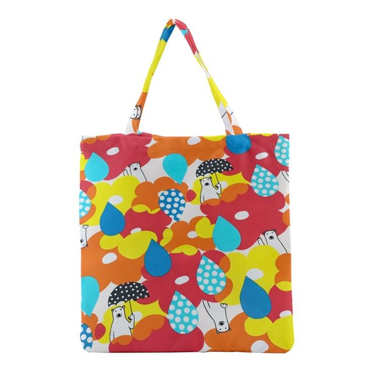 Bear Umbrella Grocery Tote Bag
