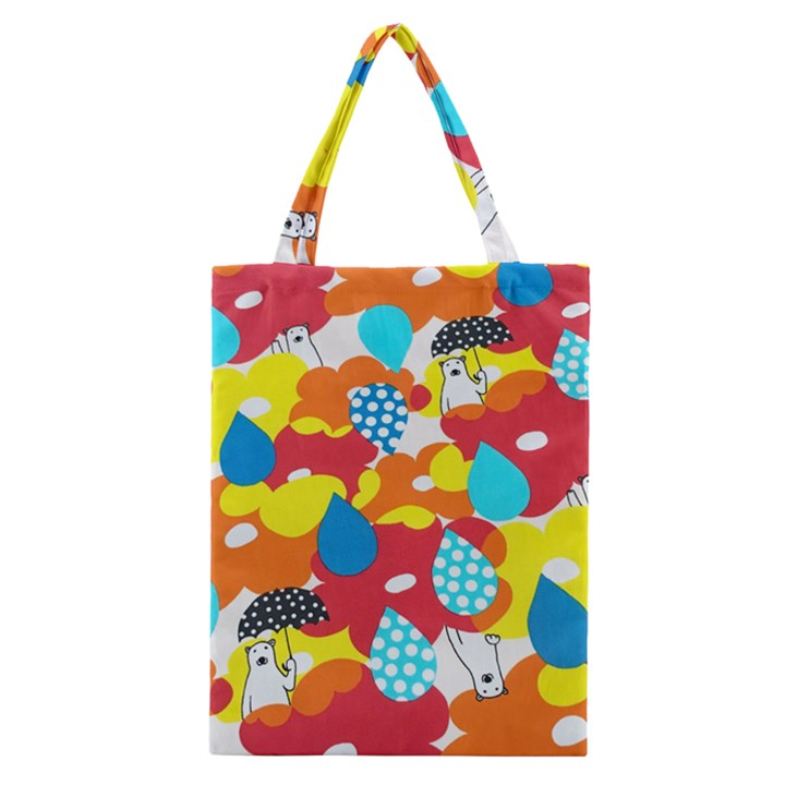 Bear Umbrella Classic Tote Bag