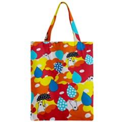 Bear Umbrella Zipper Classic Tote Bag