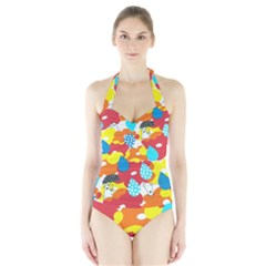 Bear Umbrella Halter Swimsuit