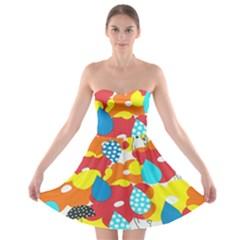 Bear Umbrella Strapless Bra Top Dress
