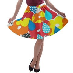 Bear Umbrella A Line Skater Skirt