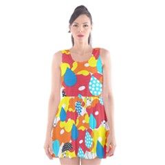 Bear Umbrella Scoop Neck Skater Dress