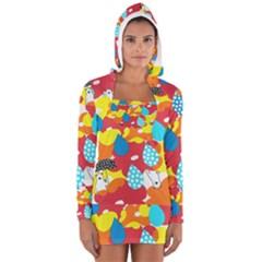 Bear Umbrella Women s Long Sleeve Hooded T Shirt
