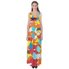 Bear Umbrella Empire Waist Maxi Dress