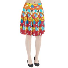 Bear Umbrella Pleated Skirt