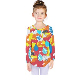 Bear Umbrella Kids  Long Sleeve Tee