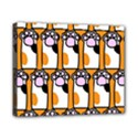 Cute Cat Hand Orange Canvas 10  x 8  View1