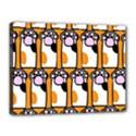 Cute Cat Hand Orange Canvas 16  x 12  View1