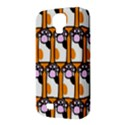 Cute Cat Hand Orange Samsung Galaxy S4 Classic Hardshell Case (PC+Silicone) View3
