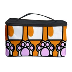 Cute Cat Hand Orange Cosmetic Storage Case