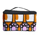Cute Cat Hand Orange Cosmetic Storage Case View1