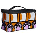 Cute Cat Hand Orange Cosmetic Storage Case View2