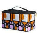 Cute Cat Hand Orange Cosmetic Storage Case View3