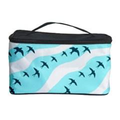 Darkl Ight Fly Blue Bird Cosmetic Storage Case by AnjaniArt