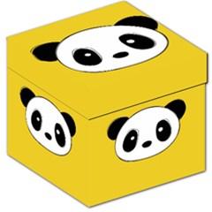 Face Panda Cute Storage Stool 12   by AnjaniArt