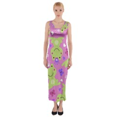 Frog Princes Fitted Maxi Dress by AnjaniArt