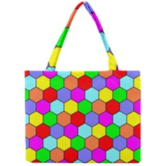 Hexagonal Tiling Mini Tote Bag by AnjaniArt