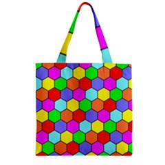 Hexagonal Tiling Zipper Grocery Tote Bag by AnjaniArt