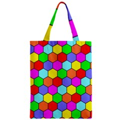 Hexagonal Tiling Zipper Classic Tote Bag by AnjaniArt