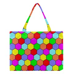 Hexagonal Tiling Medium Tote Bag by AnjaniArt