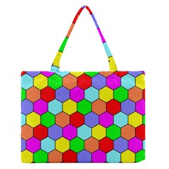 Hexagonal Tiling Medium Zipper Tote Bag by AnjaniArt