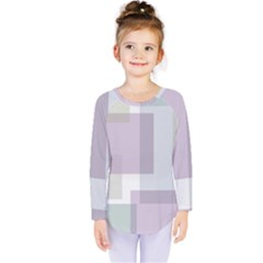 Abstract Background Pattern Design Kids  Long Sleeve Tee by Zeze