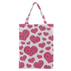 Heart Love Pink Back Classic Tote Bag by AnjaniArt