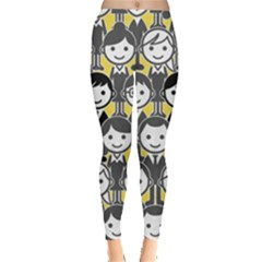 Man Girl Face Standing Leggings