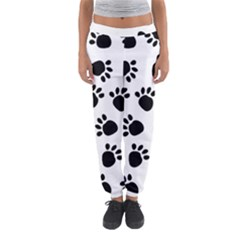 Paws Black Animals Women s Jogger Sweatpants by AnjaniArt