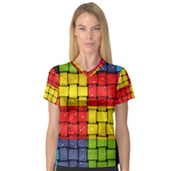 Pinterest Water Colorfull Women s V Neck Sport Mesh Tee by AnjaniArt