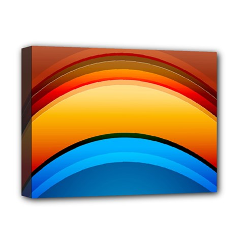 Rainbow Color Deluxe Canvas 16  X 12   by AnjaniArt