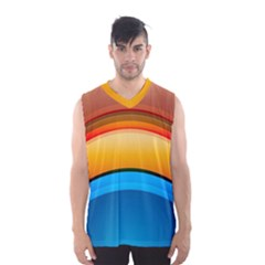 Rainbow Color Men s Basketball Tank Top by AnjaniArt