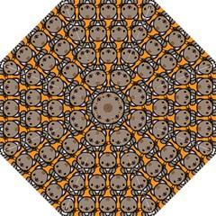 Sitcat Orange Brown Folding Umbrellas by AnjaniArt