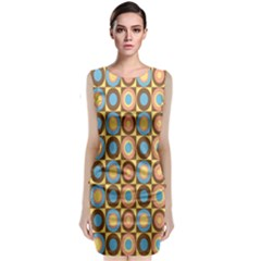 Round Color Classic Sleeveless Midi Dress by AnjaniArt