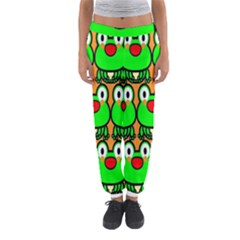 Sitfrog Orange Face Green Frog Copy Women s Jogger Sweatpants by AnjaniArt