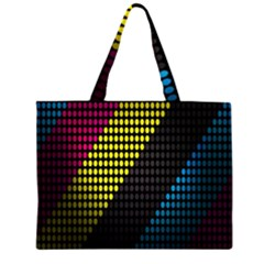 Techno Music Large Tote Bag by AnjaniArt