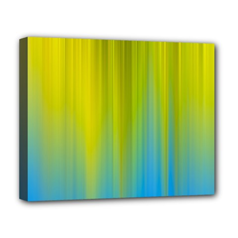 Yellow Blue Green Deluxe Canvas 20  X 16   by AnjaniArt