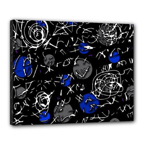 Blue Mind Canvas 20  X 16  by Valentinaart