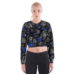 Blue Mind Women s Cropped Sweatshirt by Valentinaart