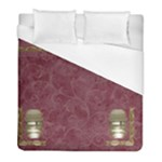 Burgundy Duvet Cover (w/o Images) - Duvet Cover (Full/ Double Size)