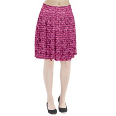 Brick1 Black Marble & Pink Marble (r) Pleated Skirt by trendistuff